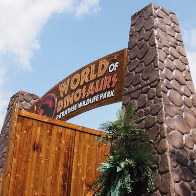 Entrance to the World of Dinosaurs at Paradise Wildlife Park