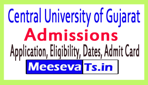 Central University of Gujarat Admissions