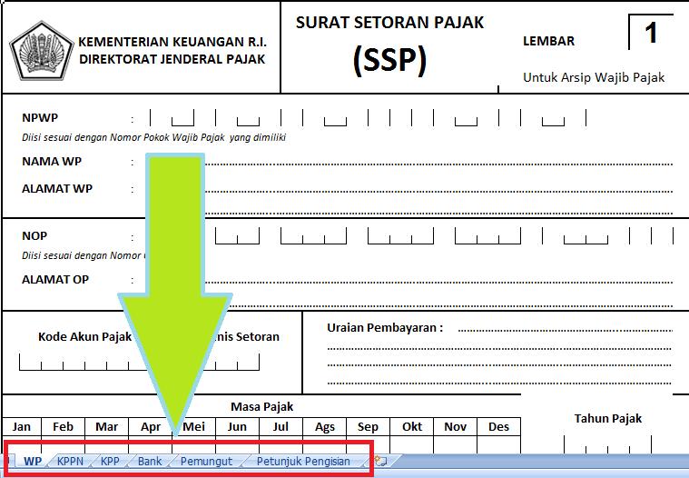 Format Ssp Pajak Altin Northeastfitness Co