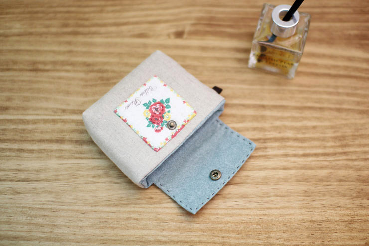 Sew Fabric a Business Card Wallet. DIY in Pictures.