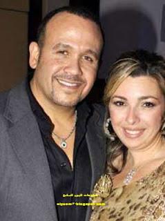 المطرب هشام عباس وزوجته