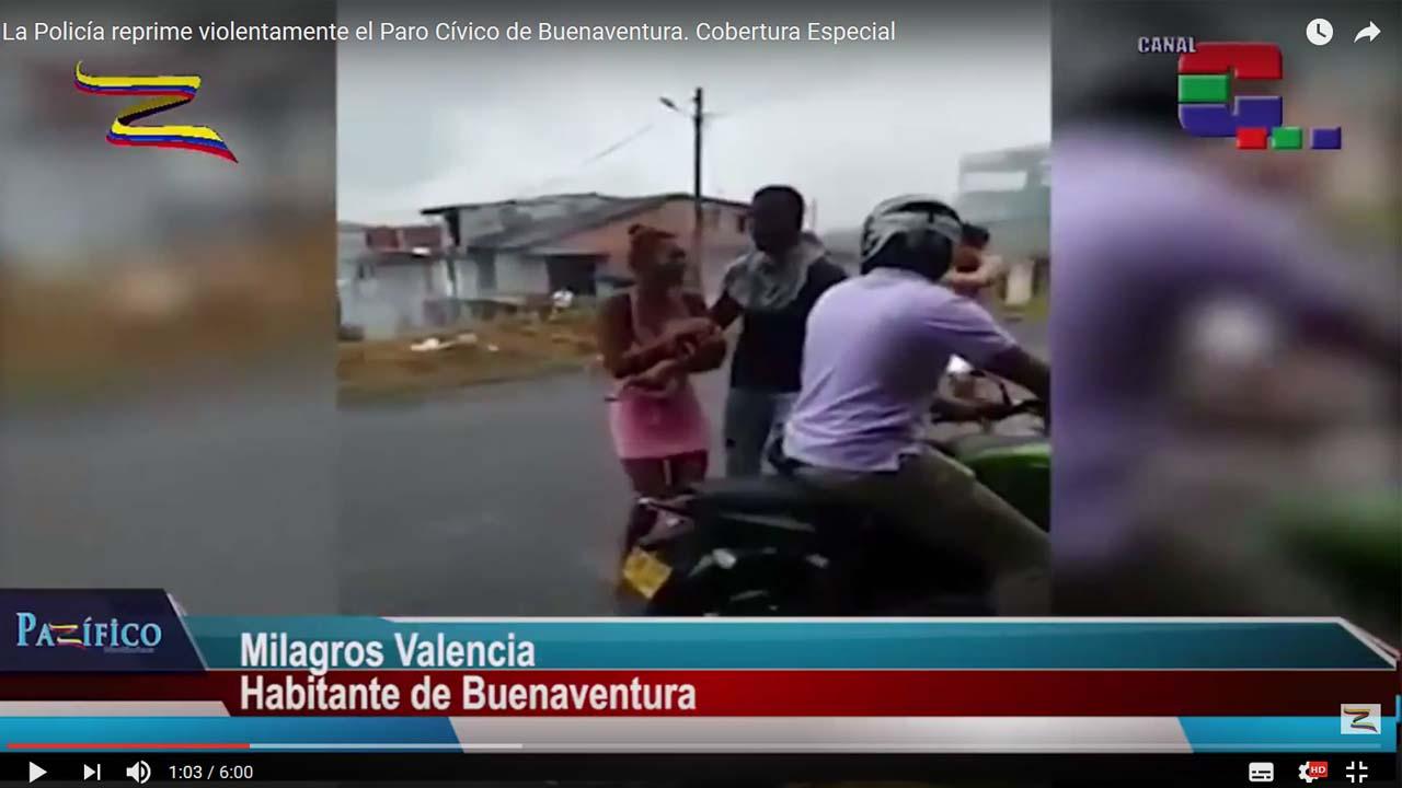 La Policía reprime violentamente el Paro Cívico de Buenaventura. Cobertura Especial