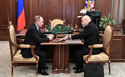 President Putin with Viktor Vekselberg, Chairman of the Board, Renova Group.