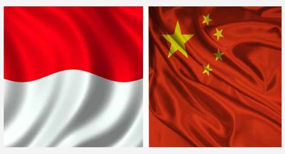 Bendera Indonesia dan China