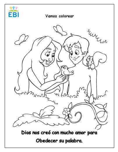 Lujoso Adán Y Eva Colorear Página Lds Cresta - Ideas Para Colorear ...