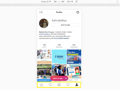 Foto di Instagram dari Web Browser