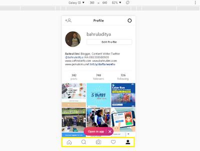 Foto di Instagram dari Web Browser