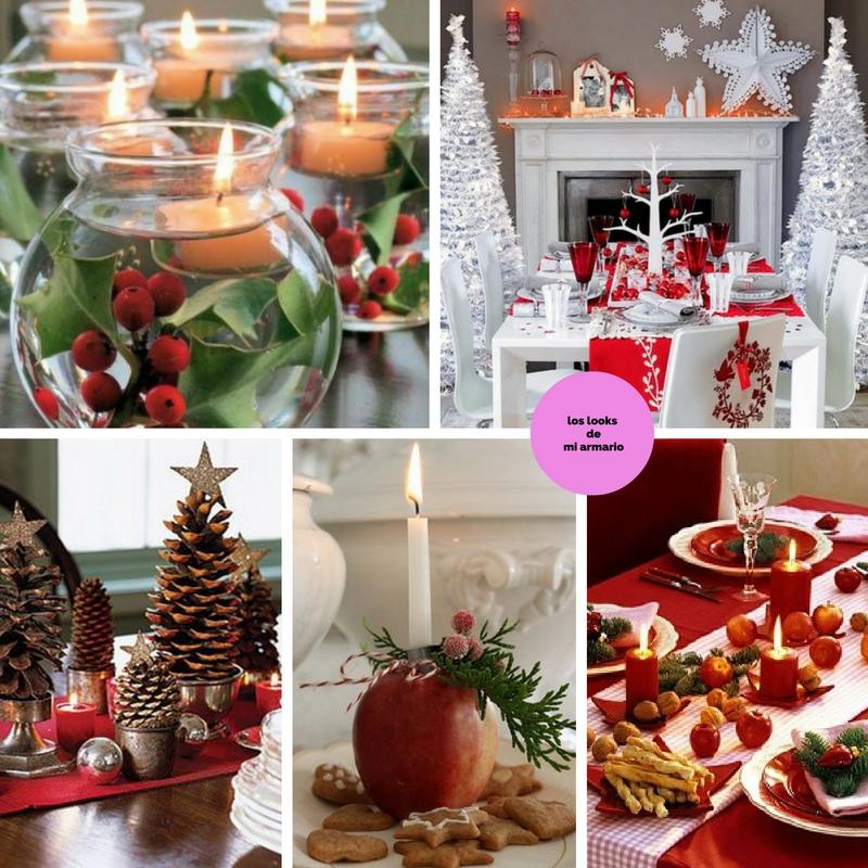 Mesa de navidad decoracion los looks de mi armario for Mesas decoradas para navidad