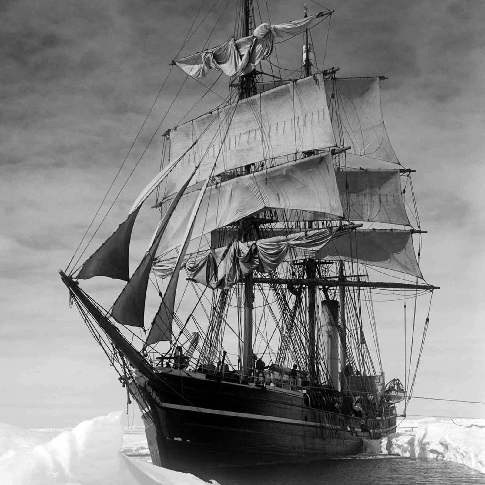 The Terra Nova Expedition, officially the British Antarctic Expedition, was an expedition to Antarctica which took place between 1910 and 1913. It was led by Robert Falcon Scott and had various scientific and geographical objectives. Pictured: The Terra Nova.