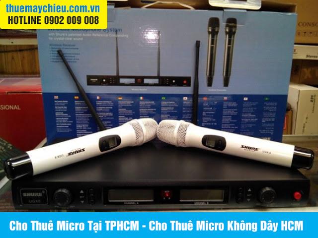 Cho Thuê Micro Tại TPHCM - Cho Thuê Micro Không Dây HCM
