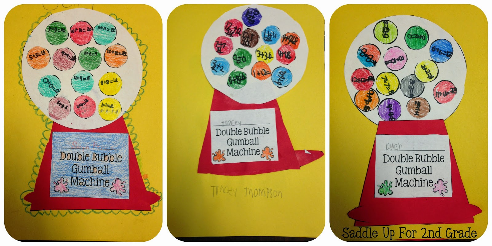 Double Bubble Craft by Saddle Up For 2nd Grade