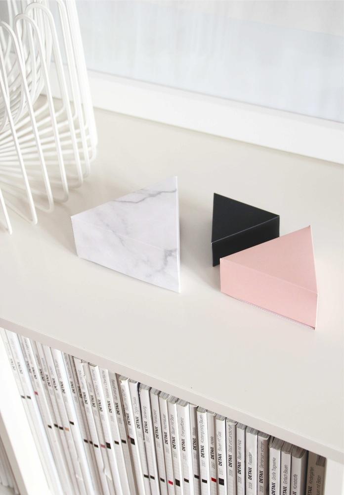 Papierowe pudełka Trójkąty.