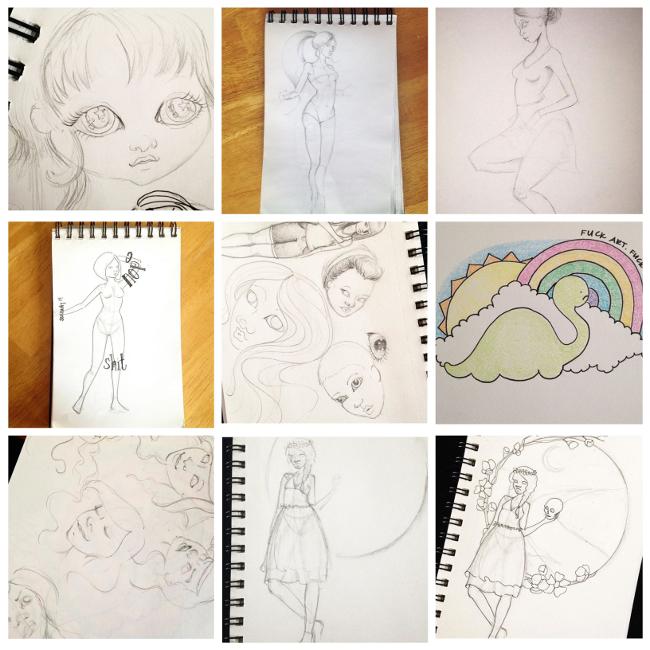 Sketchbook Round-Up: Volume 9 | Yeti Crafts