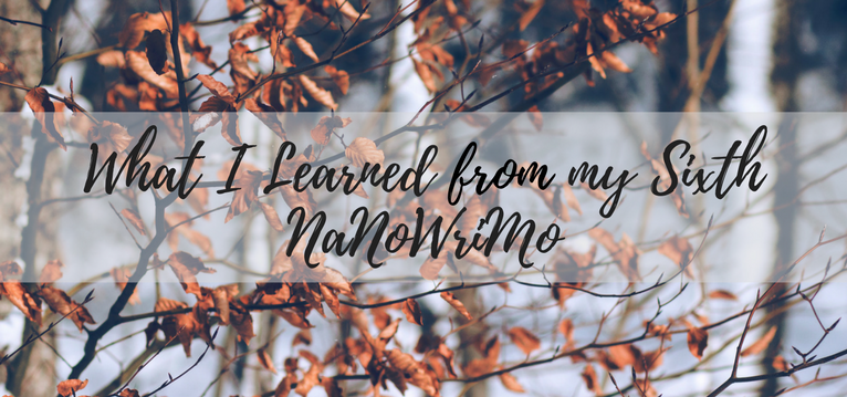What I learned from my sixth NanoWrimo