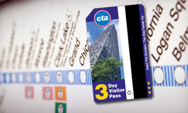 CTA Train e Bus integrado - Cartão de transporte público para turistas em Chicago