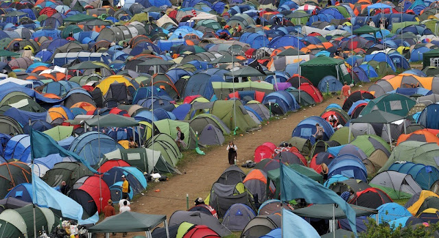Glastonbury campsite, Glastonbury accommodation