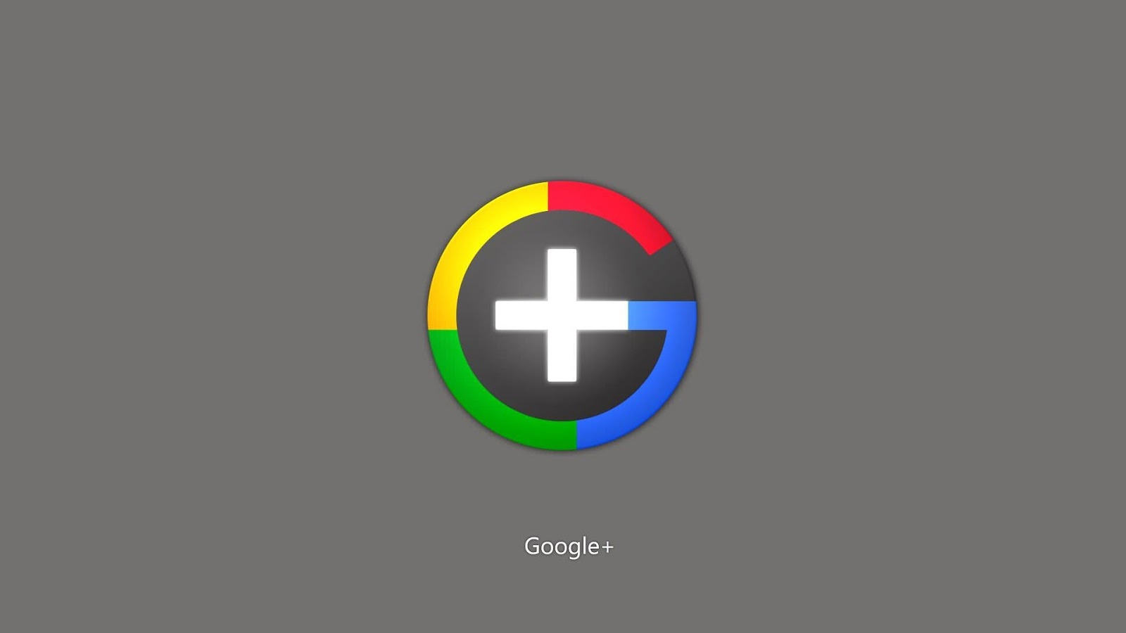 Google Plus Logo in Neon Minialist Design