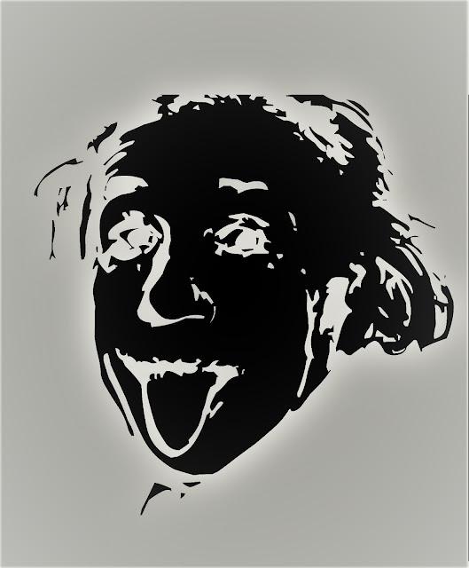 Metamora Herald Black and white Albert Einstein