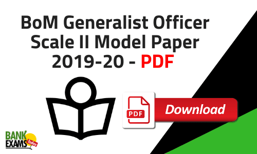 BoM Generalist Officer Scale II Model Paper 2019-20