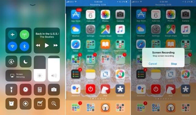 Screen Recording iPhone iOS 11