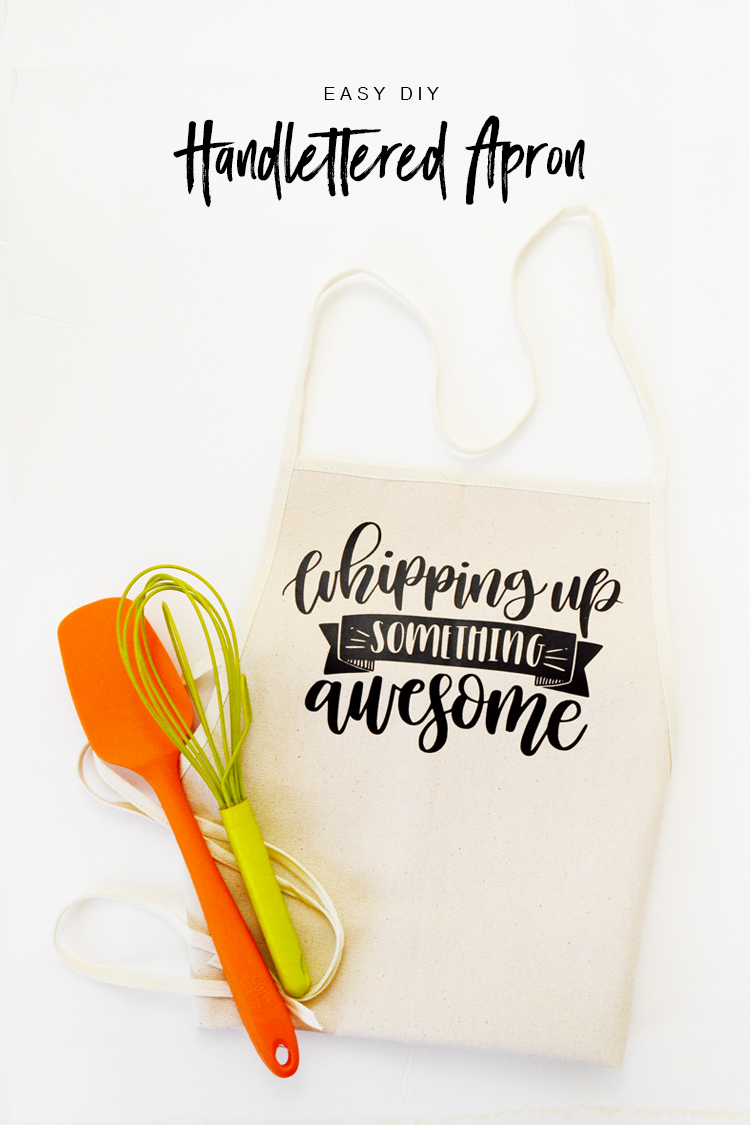 handlettered apron DIY at Crafts Unleashed