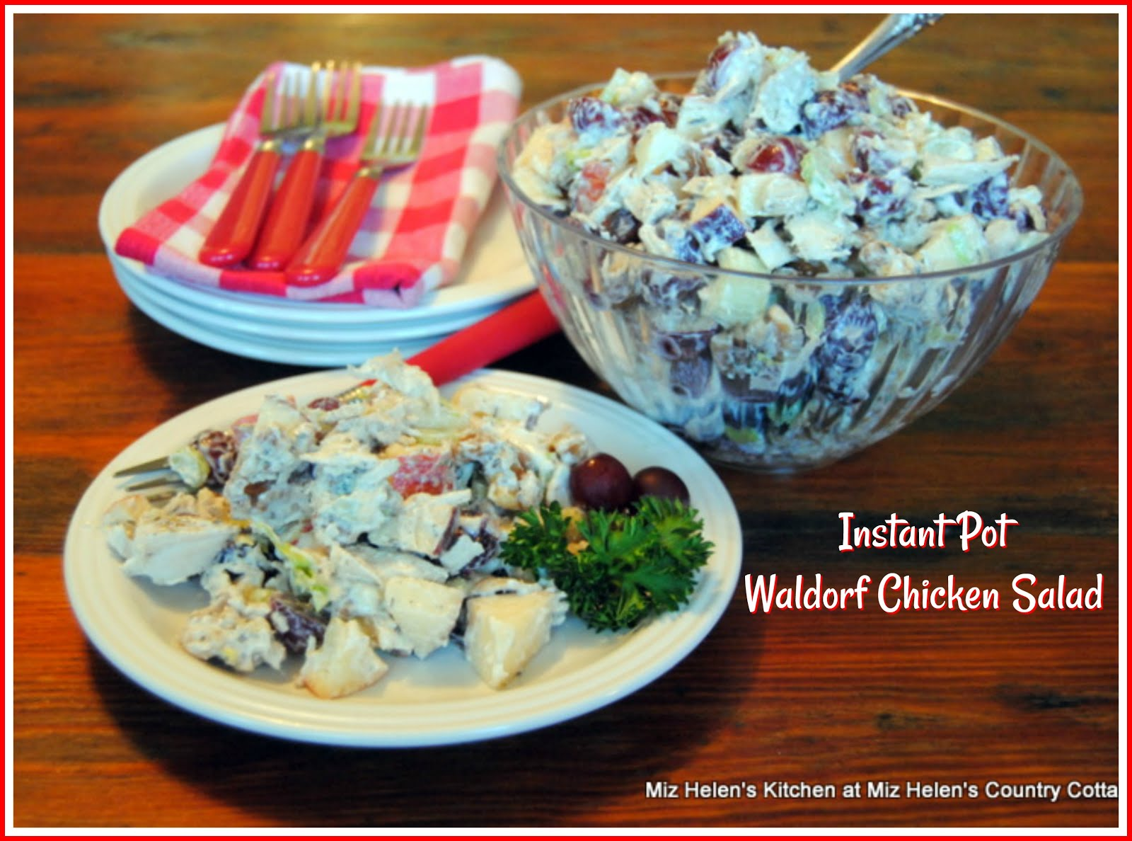 Instant Pot Waldorf Chicken Salad