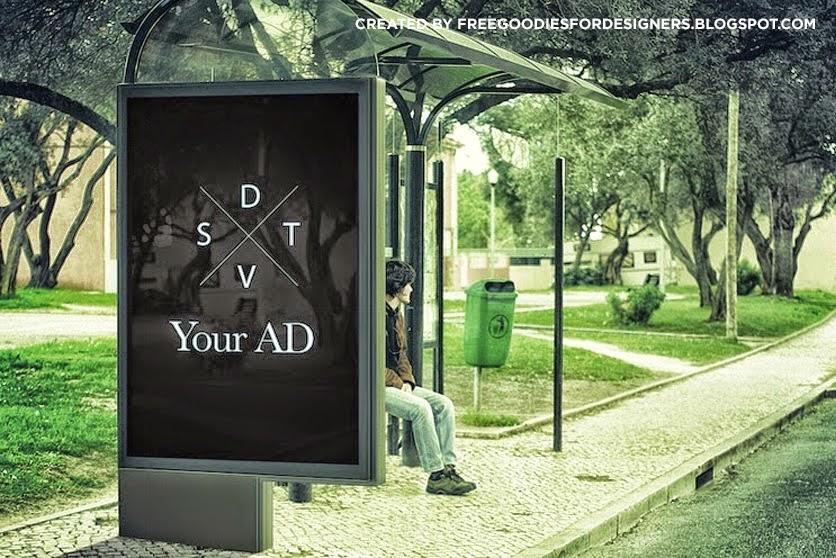 Billboard Ad Mockup PSD