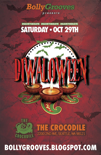 BollyGrooves presents Halloween + Diwali - Diwaloween Saturday Oct 29th at the Crocodile