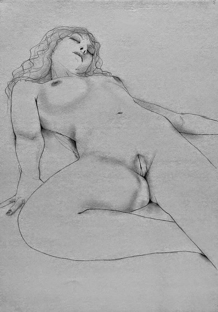 dibujos a-lapiz-de-modelos-sin-ropa