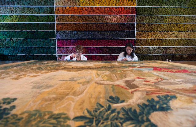 Bringing ancient tapestries back to life in Belgium