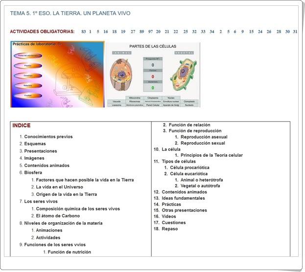 Recursos Educativos de Secundaria: Unidad 8 de Biología y