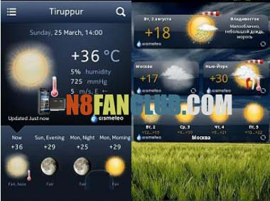 Gismeteo 1 1 Weather Widget for Nokia N8 & other Belle