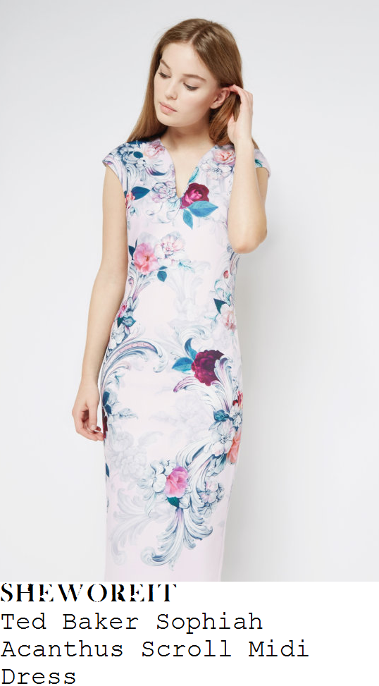 susanna-reid-ted-baker-sophiah-acanthus-scroll-floral-print-midi-dress