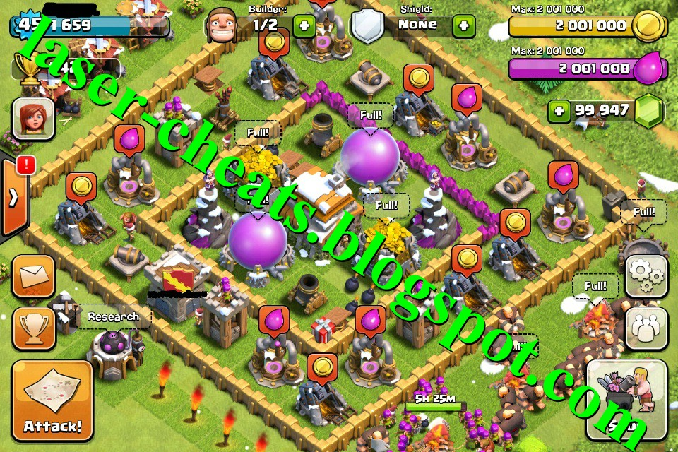 Laser Cheats: Clash of Clans Cheats [Unlimited Gems