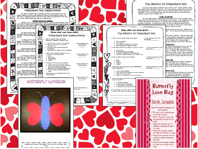 https://www.teacherspayteachers.com/Product/Valentines-Day-Close-Reading-Passages-Assessments-and-Crafts-1104632