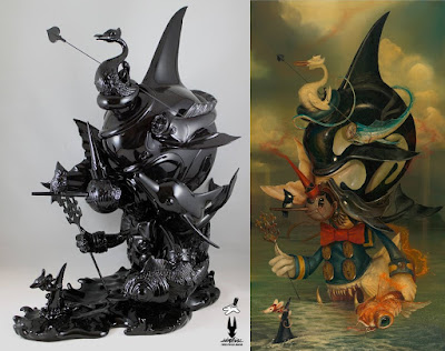 "Beyond The Black Sea Fine Art Sculpture by Greg ""Craola"" Simkins x Silent Stage Gallery"