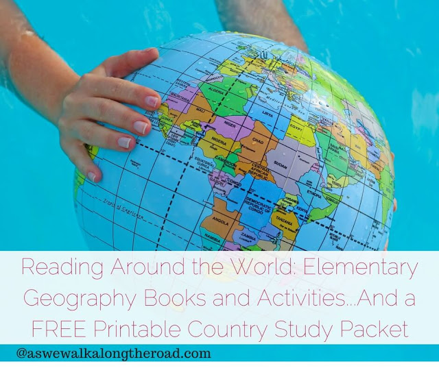 Geography books for kids and a free printable country study