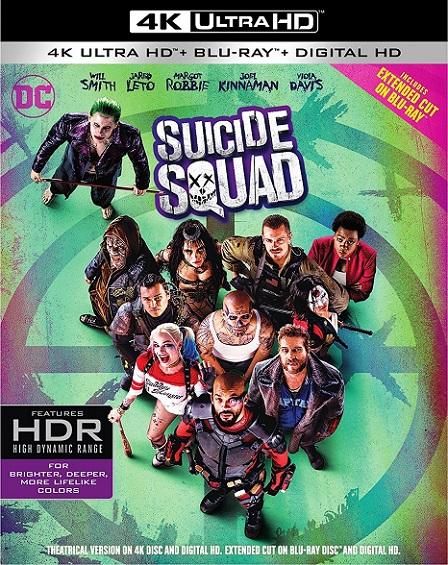 Suicide Squad 4K (Escuadrón Suicida 4K) (2016) 2160p 4K UltraHD HDR BluRay REMUX 51GB mkv Dual Audio Dolby TrueHD ATMOS 7.1 ch