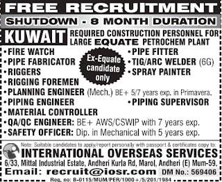 8 Month Shutdown jobs Kuwait