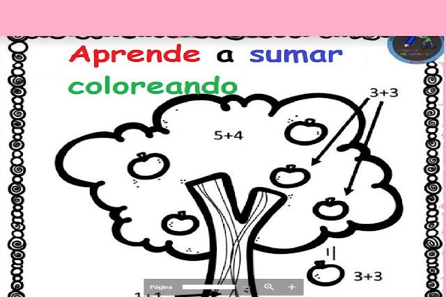 aprender,sumas,preescolar,primaria