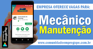 MECÂNICO DE MANUTENÇÃO, COM SALÁRIO DE R$ 1.471,00 PARA ATUAR NO RECIFE
