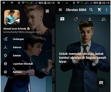 BBM Mod Justin Bieber