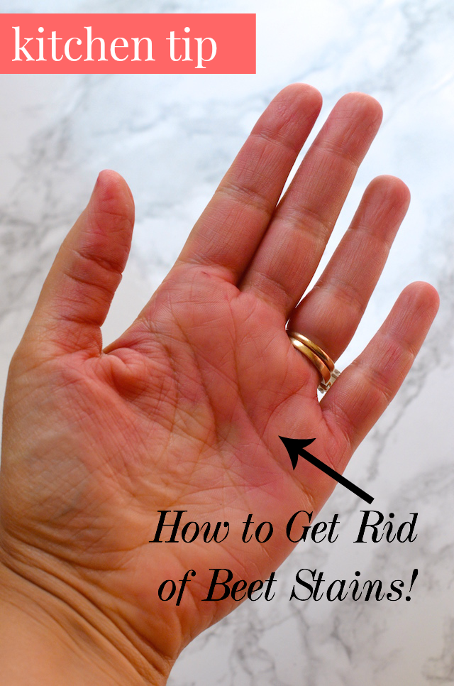 how to remove beet stain from hands