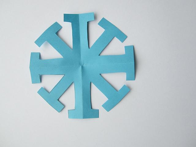 simpele papieren sneeuwvlok