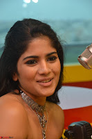Mega Akash in a sleeveless Off Shoulder Cute Dress Stunnign beauty at Radio Mirchi Promoting Movie LIE ~ Celebrities Galleries 041.JPG