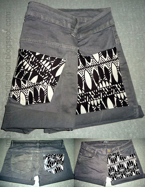 Deconstructed Tribal Shorts | Clever Sewing Projects To Upcycle Fabric Scraps