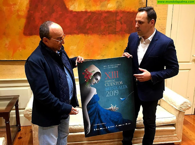 Una obra del reconocido ilustrador Gabriel Pacheco, cartel anunciador del XIII Festival de Cuentos de Breña Alta