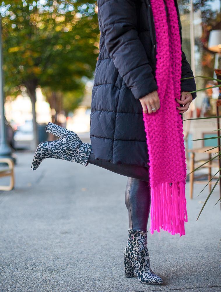 target leopard sock booties