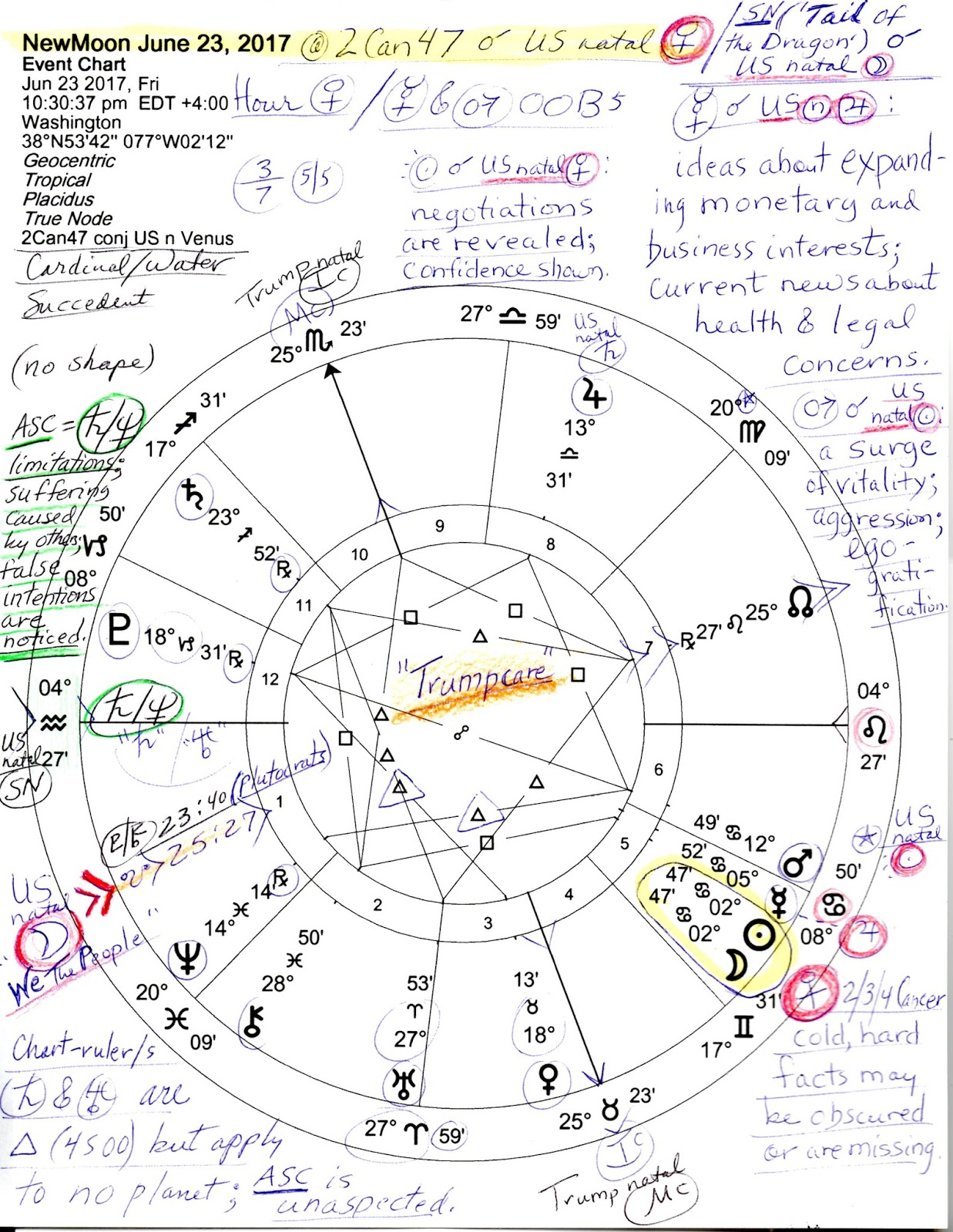 Stars over washington june 2017 notated in the chart are venus jupiter and the sun potus neglected is us natal mercury rx in the new moons 6th house an indicator of thinking geenschuldenfo Image collections