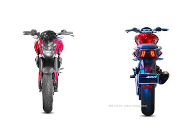 Bajaj Dominar 400 front & rear look